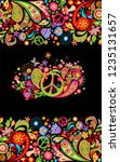 fashionable print with colorful ... | Shutterstock . vector #1235131657