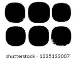 grunge post stamps collection ...   Shutterstock .eps vector #1235133007