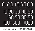 digital numbers round vector   Shutterstock .eps vector #1235135704