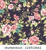 seamless classic wallpaper... | Shutterstock .eps vector #123513661