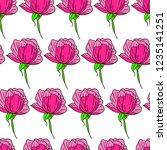 flower peony illustration | Shutterstock . vector #1235141251