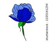 flower peony illustration | Shutterstock . vector #1235141254