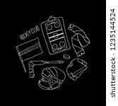 hockey set vector illustration | Shutterstock .eps vector #1235144524