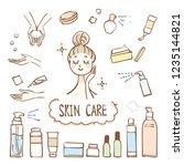 illustration on skin care. it... | Shutterstock .eps vector #1235144821