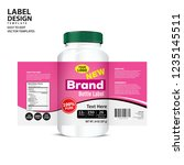 bottle label  package template... | Shutterstock .eps vector #1235145511