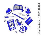 hockey set illustration | Shutterstock . vector #1235148484