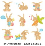 Flat Vector Set Of Easter...