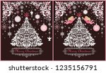 ornate vintage sweet christmas... | Shutterstock . vector #1235156791