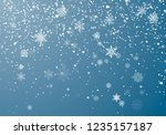 snowfall christmas background.... | Shutterstock .eps vector #1235157187
