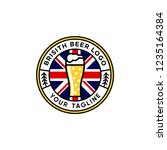 British Beer Emblem Logo Design ...