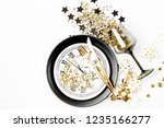 new year table setting. black... | Shutterstock . vector #1235166277