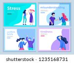 set of landing page templates... | Shutterstock .eps vector #1235168731