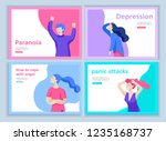 set of landing page templates... | Shutterstock .eps vector #1235168737