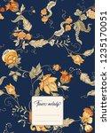 stylized ornamental flowers in... | Shutterstock .eps vector #1235170051