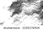 black and white wavy striped...   Shutterstock . vector #1235176924