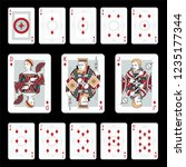 playing cards in vintage style... | Shutterstock .eps vector #1235177344