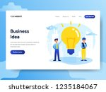 landing page template of... | Shutterstock .eps vector #1235184067