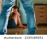 young scared and helpless asian ...   Shutterstock . vector #1235185051