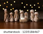 A Crocheted Set Of Baby Jesus...