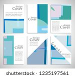 set of a4 cover  abstract... | Shutterstock .eps vector #1235197561