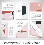 set of a4 cover  abstract... | Shutterstock .eps vector #1235197564
