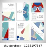 set of a4 cover  abstract... | Shutterstock .eps vector #1235197567