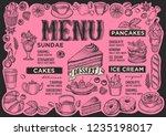 dessert menu template for... | Shutterstock .eps vector #1235198017