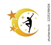 Ballerina Dance Logo On The...
