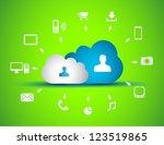 cloud computing concept... | Shutterstock .eps vector #123519865