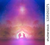 birth of jesus in bethlehem.   Shutterstock . vector #1235202271