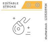 dental floss line icon   Shutterstock .eps vector #1235205934