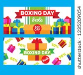 happy boxing day sale design... | Shutterstock .eps vector #1235209054