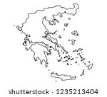 map of greece | Shutterstock .eps vector #1235213404
