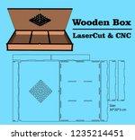 laser cutting box   cnc.... | Shutterstock .eps vector #1235214451