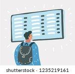 vector cartoon illustration of... | Shutterstock .eps vector #1235219161