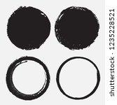 round grunge frames.vector... | Shutterstock .eps vector #1235228521