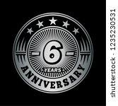 6 years anniversary.... | Shutterstock .eps vector #1235230531