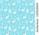 christmas seamless pattern with ... | Shutterstock .eps vector #1235230624