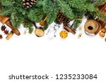 christmas cooking background  ... | Shutterstock . vector #1235233084