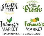 farmers market gluten free and... | Shutterstock .eps vector #1235236201