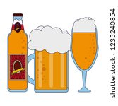 beer bottle and cup | Shutterstock .eps vector #1235240854