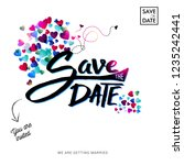 save the date text invitation... | Shutterstock .eps vector #1235242441