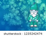 abstract christmas background... | Shutterstock . vector #1235242474