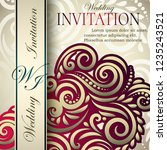 classic vintage card template ... | Shutterstock .eps vector #1235243521