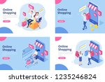 online shopping isometric... | Shutterstock .eps vector #1235246824