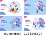online shopping isometric... | Shutterstock .eps vector #1235246824