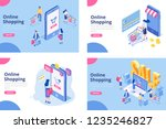 online shopping isometric... | Shutterstock .eps vector #1235246827