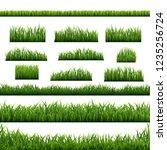 green grass panorama white... | Shutterstock .eps vector #1235256724