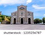 basilica of santa margherita in ...   Shutterstock . vector #1235256787