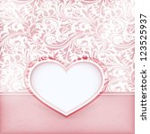 invitation card with love heart ... | Shutterstock .eps vector #123525937